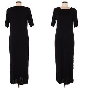 Misook black maxi dress with sleeves